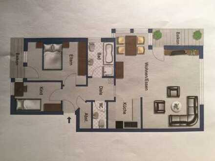 Modernisierte 3-Zimmer-Wohnung mit 2 Balkonen in Pfinztal