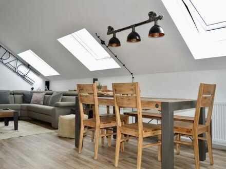 Helle, renovierte 3-Zimmer-DG-Wohnung in Bürstadt-Bobstadt mit Loggia