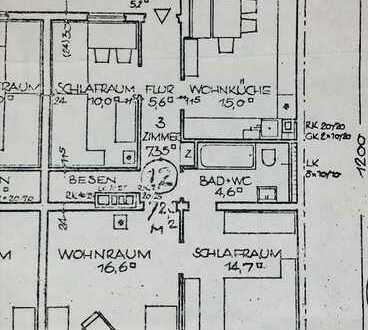 Provisionsfreie 3 Zimmerwohnung in beliebter Lage mitten im Westen!