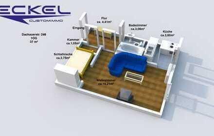 Perfekt aufgeteilte 1-Zimmerwohnung mit Schlafnische und Abstellkammer