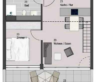 Großzügige 2-Zimmer-Wohnung in Bissingen