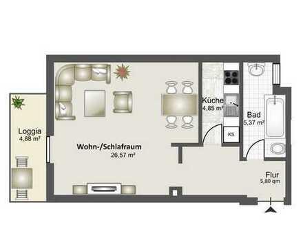 1-Zimmer Appartement mit sep. Küche und Bad