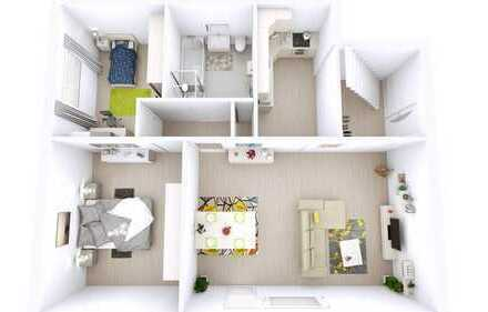 Großzügige 4-Zimmer Maisonette-Wohnung mit Südbalkon in Lambrecht
