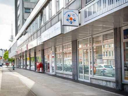direkte Innenstadtlage: gut sichtbare Erdgeschoss Bürofläche in Bahnhofsnähe