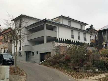 Neubau mit überdachter Süd-Terrasse in Pforzheim,