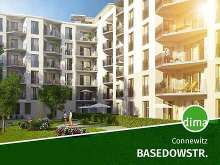 BAUBEGINN | Praktisch geschnittene 3-Raumwohnung mit Vollbad, sonniger Terrasse und Gartenanteil!