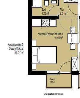 Jetzt vorab sichern - Helle neu sanierte 1 Zimmer Whg mit Balkon