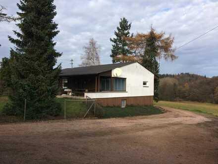 Idyllisches Landhaus mit Waldblick in einzigartig ruhiger Lage. Großer Bungalow mit 5 Zimmern, Garag