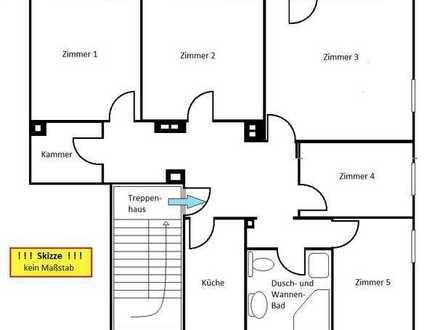 KS Schillerviertel 5 Zim.Whg. 140 m² mit Terrasse für 1230,00 Euro Warmmiete - WG geeignet