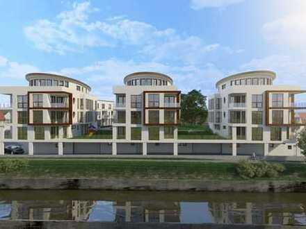 Wohnen am Wasser: Exklusive 4-Zi. Neubauwohnung in Oedheim