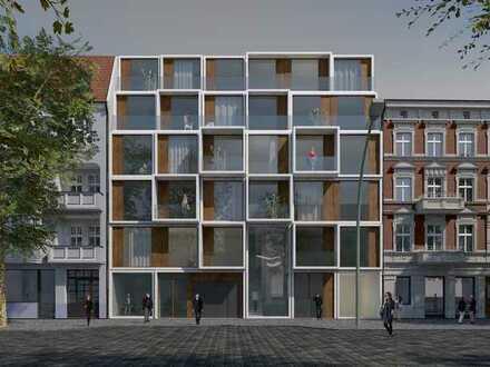 Zentral im angesagten Florakiez gelegene Neubau-Gewerbeeinheit - Commercial unit street Side