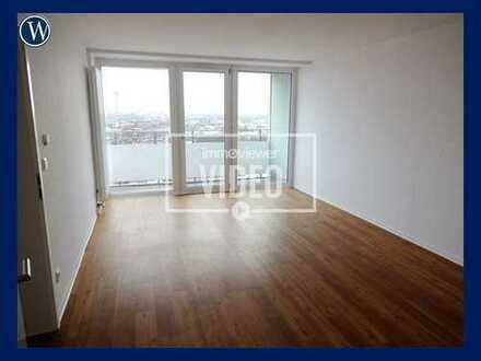 So wohne ich gerne! Modernisierte 2 Zimmer in der City, 17. Obergeschoss + Balkon mit Dom-Blick