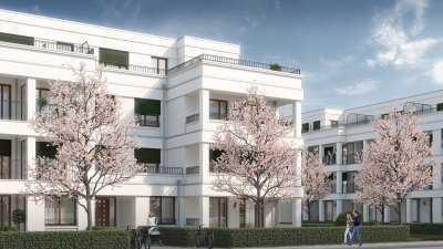 Neubau, wunderschöne helle 2-Zimmer Wohnung in Adlershof mit großem Balkon, 1.OG, ruhige Lage.