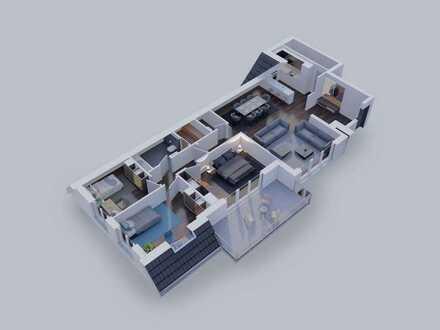 Geräumige 4-Zimmer Wohnung mit großem Balkon an der Spitze