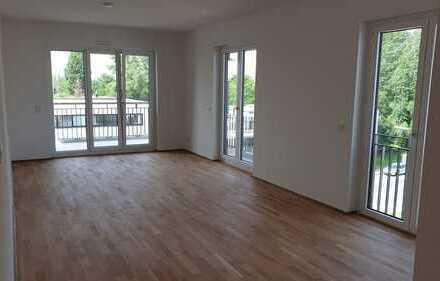 Schöne, geräumige drei Zimmer Wohnung in Düsseldorf, Heerdt mit Blick über den Daechern