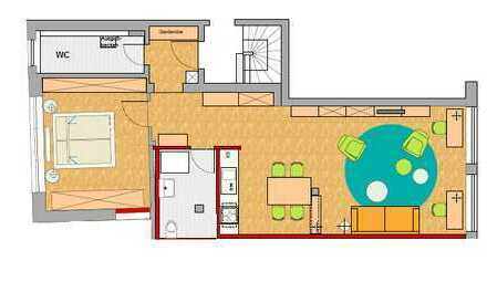 Sehr schöne, neuwertige 2-Zimmer-Erdgeschosswohnung mit Einbauküche in Horb-Dettingen