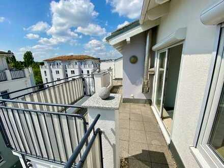 !VIDEO! Luxus-Penthouse mit Dach-Terrasse, Marmor-Bad, Laminat in Grau, Tiefgarage, frei! *****