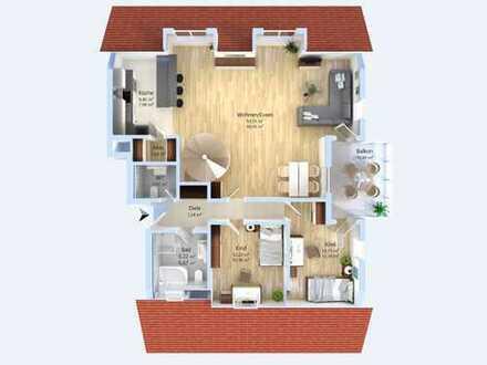 Wohnen auf zwei Ebenen ! Exzellente 5-Zimmer-Maisonettewohnung auf ca. 133 m² Wohnfläche