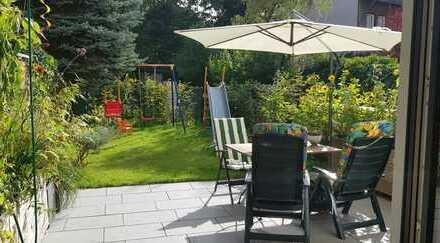 # Maisonette-Wohnung # mit 5 Zimmern #, #Gartenanteil mit Sondernutzung#, #Terrasse # + #Balkon#