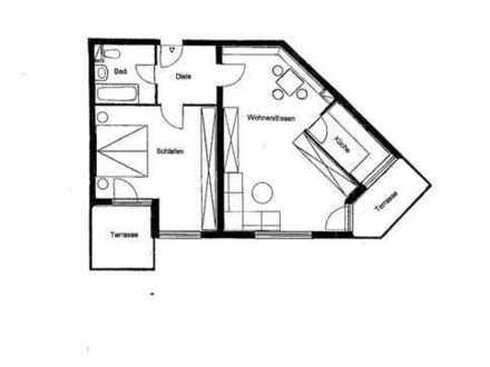 Gepflegte 2-Zimmer-Erdgeschosswohnung mit Balkon in Reinsdorf