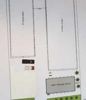 Halle Isoliert 1320 m² oder Teilflächen ab 264m²