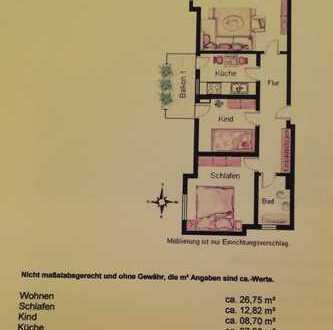 Stilvolle, gepflegte 3-Zimmer-Wohnung mit Balkon in Trudering, München