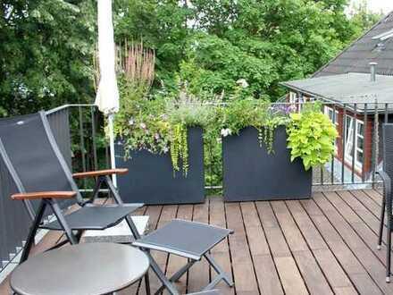 Denkmalschutz! Luxuriöse 1-Zimmer-Dachgeschosswohnung mit Loft-Charakter in Berlin-Zehlendorf