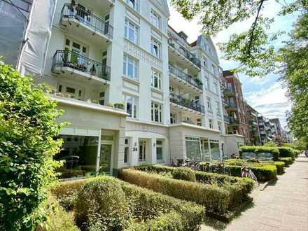 Sanierte und modern gestaltete 3-Zimmer-Wohnung mit Gartennutzung in Hamburg-Hoheluft-West