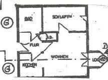 Dortmund - Renditeobjekt -, 2-Zimmer-Küche-Bad-Wohnung mit Balkon und Garage