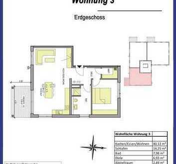 2-Zimmer-Wohnung in Dietenheim im Erdgeschoß mit kleinem Garten