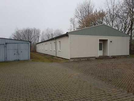 Büro- / Geschäftsräume (290m²), Baracke (70m²), ruhige Lage, Hochwassersicher