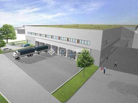 Projektierter Neubau einer Lager-und Logistikhalle an der A61