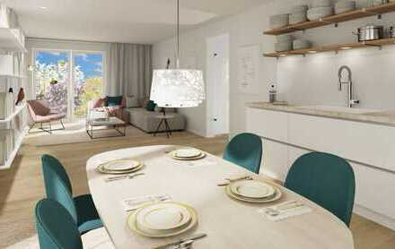 Helle großzügige 1-Zimmer-Wohnung mit Süd-Garten und Terrasse