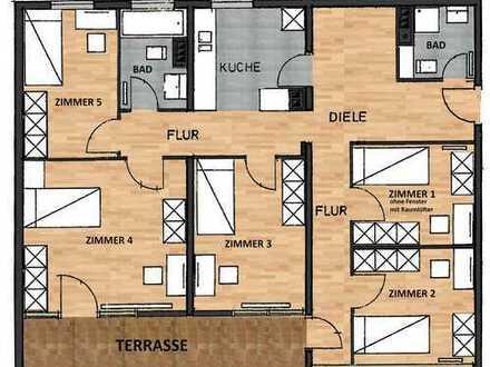Sanierte 5-Zimmer-Wohnung in Innenstadtlage mit Riesenterrasse und EBK
