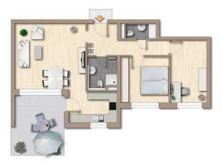 Attraktive 3-Zi.-Wohnung mit schöner Südterrasse und Garten