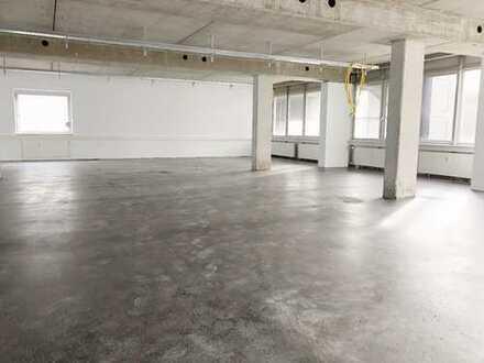 Büroflächen 630 m² in Leonberg-Eltingen - Industrie-Look und Großraumbüro möglich