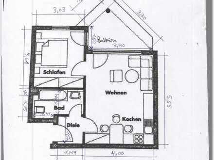 Attraktive 2-Raum-Wohnung mit EBK und Balkon in Eckental-Forth