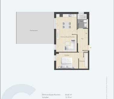 """Attraktive 2-Zi.-Etw. C 06 (Neubau) mit Dachterrasse im """"Theresienpark3"""""""