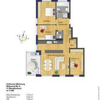 4-Zi.-ETW im 2.OG - Attraktive Wohnung in einer schönen kleinen Wohnanlage!