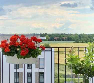 Möblierte, helle 3-Zimmer-Wohnung mit Südbalkon und EBK in Heidelberger Bahnstadt