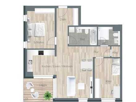 Neubau 84 m² - 1.OG mit überdachtem Balkon
