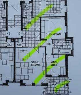 Neuwertige 3-Zimmer-Erdgeschosswohnung mit Balkon und Einbauküche in Minden