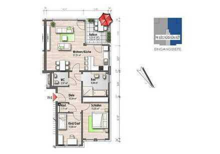 Obergeschosswohnung mit Balkon (Nr. 4)