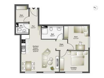 Neubau 8 Familienhaus-Zentrumsnahme ab 2,5 Zi. bis 4,5 Zi. ETW Whg. 2