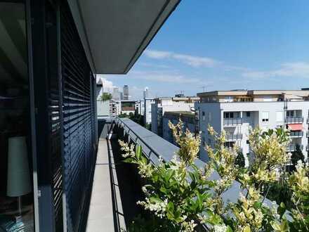 Atemberaubendes Penthouse mit Skylineblick am Rebstockpark