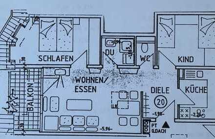 3-Zimmer-Dachgeschosswohnung mit Balkon und EBK in Ludwigsburg