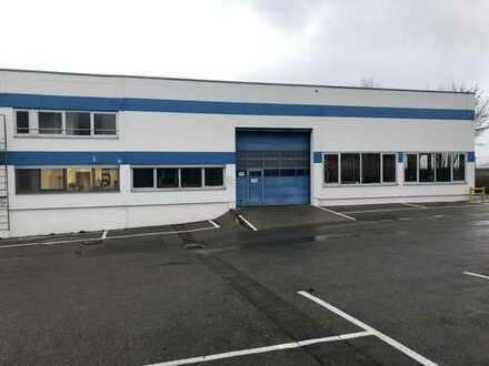 Lagerhalle mit Büro in Augsburg in eingezäuntem Gelände mit elektrischen Toren
