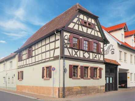Historisches Gebäude mit toller Wohnung und Gastronomie im Herzen von Herxheim