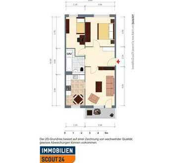 helle geräumige 3-Raum Wohnung