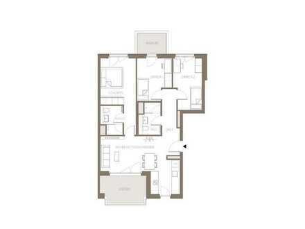 Wohlfühlatmosphäre ganz nah. Familienfreundliche 4-Zimmer Wohnung mit zwei Balkonen.